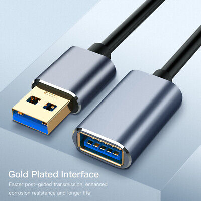 AU9.89 • Buy USB 3.0 Cable Super Speed USB Extension Cable USB 2.0 Data Extender Lead New AU
