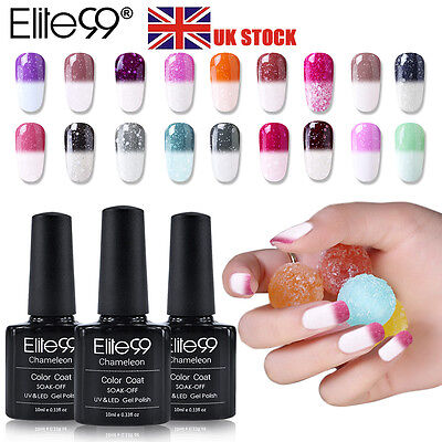 Elite99 UV Gel Nail Polish Snowy Thermal Change Color Varnish Lacquer Pedicure • 3.19£