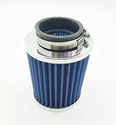 £16.99 • Buy 50mm BLUEUniversal Car Motorcycle Cone Air Intake Filter Cleaner With Clamp Ring