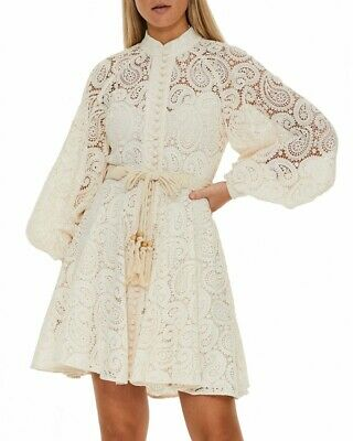 NWT Zimmermann Amari Paisley Lace Short Dress Size  0 1 2 • 339.96$