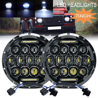 AU81.99 • Buy 2x 7inch 150W Round LED Headlights Hi/Lo Beam DRL For Land Rover Defender 90&110