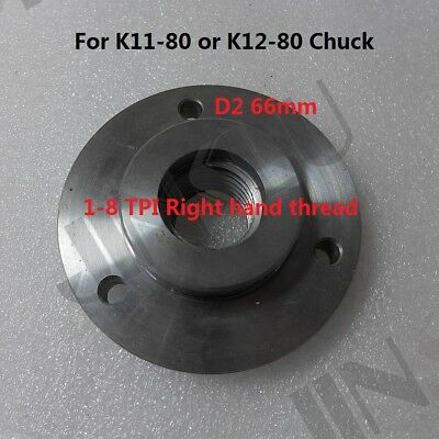 AU51.06 • Buy 1-8 TPI Spindle Back Plate For K11-80 K12-80 3 Inch 3 Jaws 4 Jaws Chuck