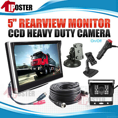 AU64.99 • Buy 5  Monitor 4PIN With Cigarette Lighter Charger+IR CCD Rear View Reversing Camera