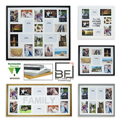 £25 • Buy Large Multi Aperture Photo Picture Frames Holds 8/9/10/12/16/20 Photos 6x4