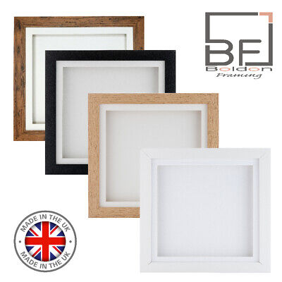 £9.27 • Buy 3D Deep Box Frame Range Picture Photo Frame Display Various Sizes 12x12 A4 White