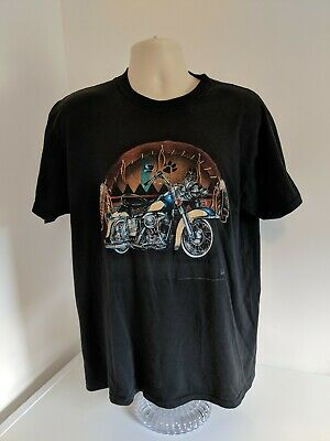 $ CDN30 • Buy 1994 American Biker 3D Emblem T Shirt Native Large Cotton Vintage