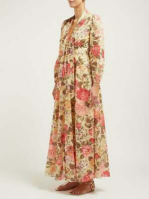 NWT ZIMMERMANN Honour Floral-print Voile Dress AU 0 1 2 • 314.46$
