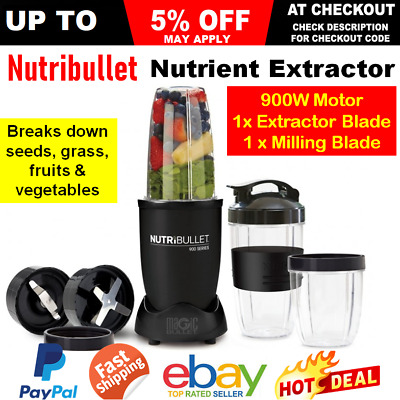 AU137.20 • Buy Nutribullet 900W Nutrition Extractor Juicer Blender Vegetable Smoothie Maker Mix