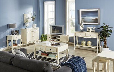 Modern Cream Living Room Furniture TV Stand Sideboard Coffee Table Nest Paris • 69.99£