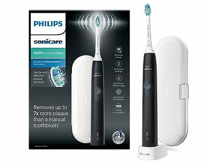 View Details Black Philips Sonicare ProtectiveClean 4300 Electric Toothbrush With Travel Case • 59.99£