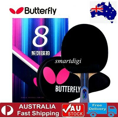AU149.75 • Buy Butterfly TBC802 Long Handle Table Tennis Ping Pong Racket Paddle Bat Blade FL