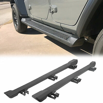 For 2018-2019 Jeep Wrangler JL 4DR Nerf Bar Side Step Running Board Rail ABS • 121.50$