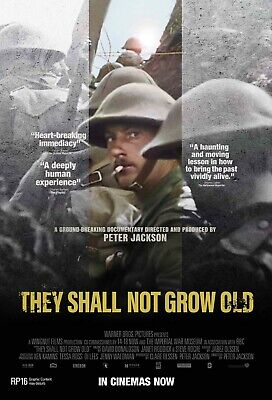 $16.95 • Buy They Shall Not Grow Old (2018) Peter Jackson World War 1 Documentary Poster NEW