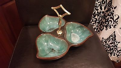 $ CDN9.99 • Buy Rare Blue Mountain Pottery Green 3 Section Dish With Handle Canadian