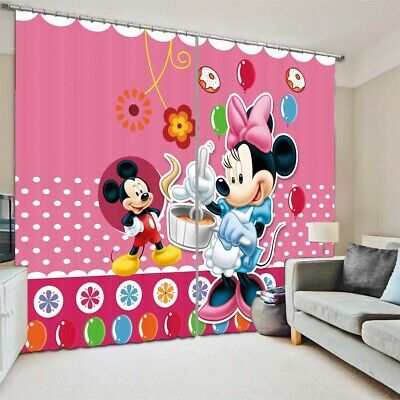 Mickey Mouse Cooking 3D Curtain Blockout Photo Printing Curtains Drape Fabric • 33.26£