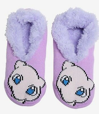 $12.75 • Buy Pokemon Go Socks Mew Cozy Fluffy Faux Fur Lined Slipper Socks Anti Slip