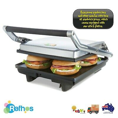 AU54.99 • Buy 4 Slice Sandwich Press Toaster Ham And Cheese Flat Sandwich Maker Bread Toaster