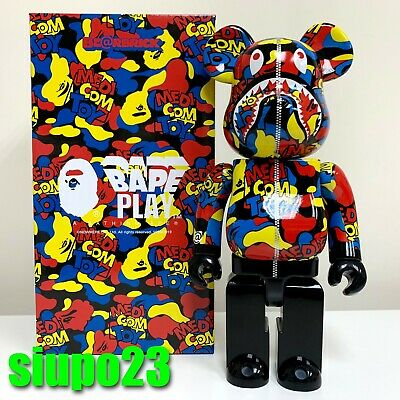 $599.99 • Buy Medicom 400% Bearbrick ~ A Bathing Ape Bape X Medicom Toy Camo Shark Be@rbrick