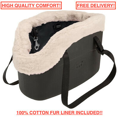 View Details Small Carrier Comfort Pet Carry Bag For Dog & Cat <8kg Black 21.5 X 43.5 X 27 Cm • 52.85£