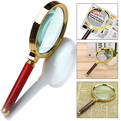 10X Hand Held Magnifying Glass 90mm Reading Jewellery Loupe Classic Magnifier UK • 4.49£
