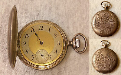 $ CDN263.99 • Buy Antique Ancre 15 Rubis Levees Visieles Silver 800 Hunters Ornate Pocket Watch