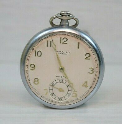 $ CDN351.64 • Buy Vintage Collectible BRAKO Extra Ancre 15 Rubis Pocket Watch Working Mechanical