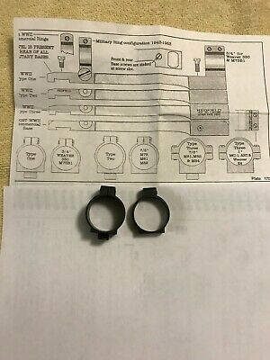 $175 • Buy Military Scope Rings, Type Two, 7/8 , M73, M81, M82.