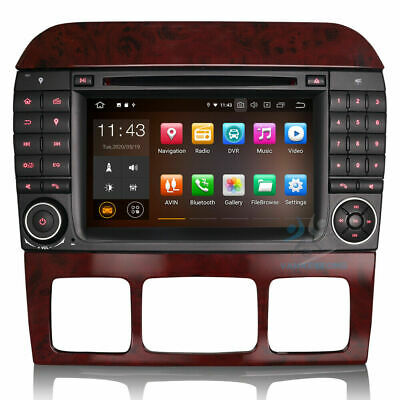 $431.48 • Buy 7 Android 9 DAB+BT Radio GPS Car Stereo For Mercedes Benz S/CLS-Class W220 W215