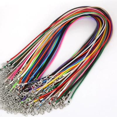 £3.49 • Buy High Quality Leather Necklace Lobster Clasp Rope Cord String For Pendants