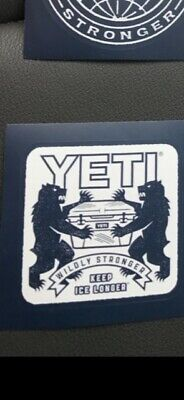 Yeti Coolers Sticker/Decal, Brand New, Have Other Colors/styles • 2.26£