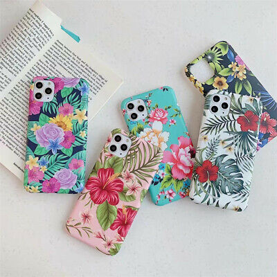 AU7 • Buy For IPhone 12 Pro Max XR 8 7 Plus Floral Flower Patterned Girls Slim Case Cover