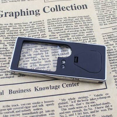 £4.69 • Buy Pocket 3X/10X Magnifying Glass Magnifier Loupe With LED Light Reading/Jewelry UK