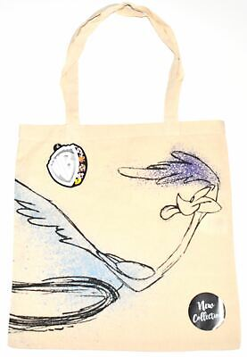 Road Runner Canvas Tote Bag 100% Cotton Looney Tunes WB Shopping Shoulder BNWT • 9.99£