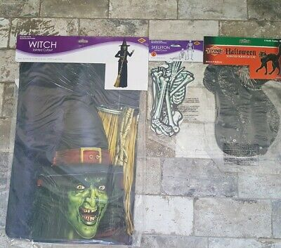 $ CDN26.32 • Buy Halloween Decorations Witch, Black Cat, Skeleton Jointed Cutouts