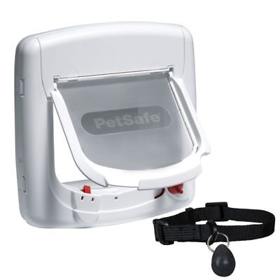 £46.99 • Buy Magnetic Cat Flap 4 Way Locking Integrated Tunnel Collar Key Come And Go Freely