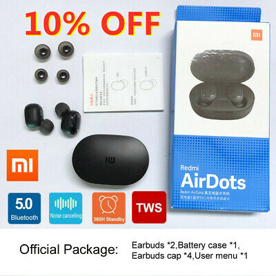 $13.85 • Buy Original NEW XIAOMI Redmi AIRDOTS WIRELESS EARPHONE W/ CHARGER BOX Bluetooth 5.0