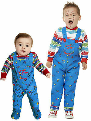 £15.95 • Buy Baby Toddler Chucky Costume Kids Killer Doll Halloween Horror Fancy Dress Outfit