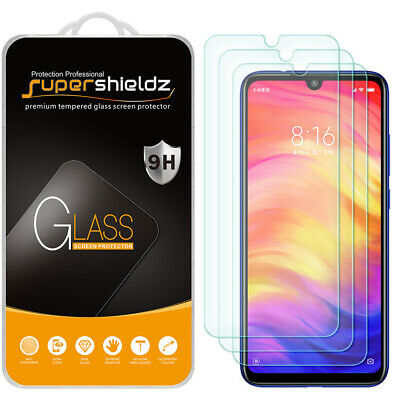 $7.99 • Buy [3-Pack] Supershieldz Tempered Glass Screen Protector For Xiaomi Redmi Note 7