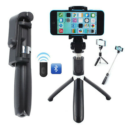 Telescopic Selfie Stick Bluetooth Tripod Monopod Phone Holder For IPhone Samsung • 5.19£