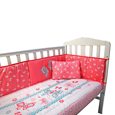 £26.65 • Buy Complete Butterfly Baby Bedding Set Nursery Bed Fitted Pillow Sheet Duvet Bumper