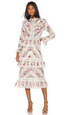 NWT AUTHENTIC ZIMMERMANN Honour Pintuck Panelled Dress AU 0 1 2 • 421.56$