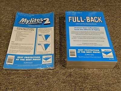 $33 • Buy 50 E. Gerber Mylites2 Mylars Bags & Full Back Comic Boards Current 700M2/675FB