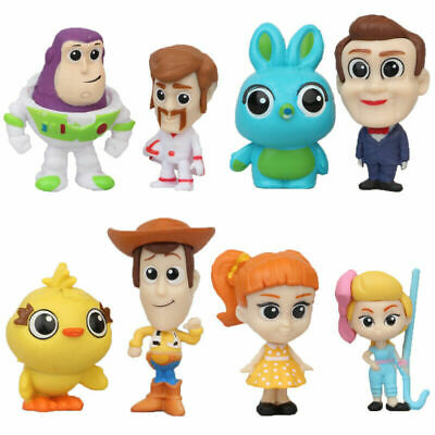 Toy Story 4 Buzz Lightyear Woody Bunny 8PCS Action Figure Cake Topper Gift Toy • 7.99£