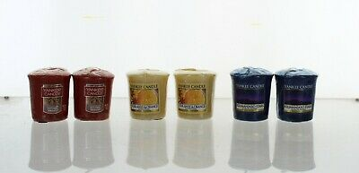 Yankee Candle Set Of 6 Votive Sampler Candles Autumn/Winter Inspired Fragrances • 8.99£