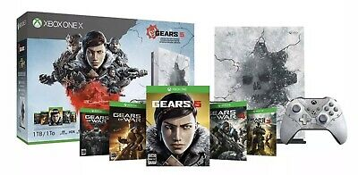 $999.99 • Buy Xbox One X 1TB Gears 5 Limited Edition ICE OMEN CONSOLE BUNDLE XB1X RARE GIFT !!