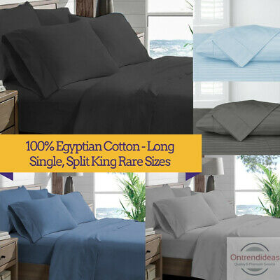 AU59 • Buy Ramesses 1200TC 100% Superfine Egyptian Cotton Sheet Set Ramesses Sheets Stripe
