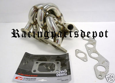 $319.51 • Buy OBX-R T3 Turbo Header Manifold For 01-05 Honda Civic DX LX EX 1.7L D17A1 / A2
