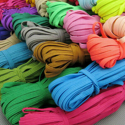 $ CDN10.17 • Buy 10M 6MM Multicolor Satin Elastic Band Sewing Trims DIY Sew Craft Accesories