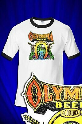 $ CDN26.80 • Buy Olympia Beer DISTRESSED RINGER T-SHIRT FREE SHIP USA Coors Budweiser