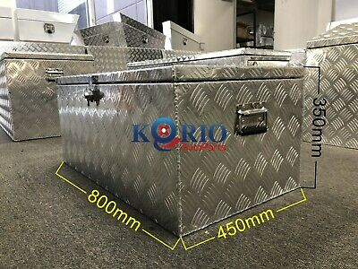 AU220 • Buy Aluminium Top Open Rectangular Tool Box Ute Trailer ToolBox 800 L X 450 W X 350H